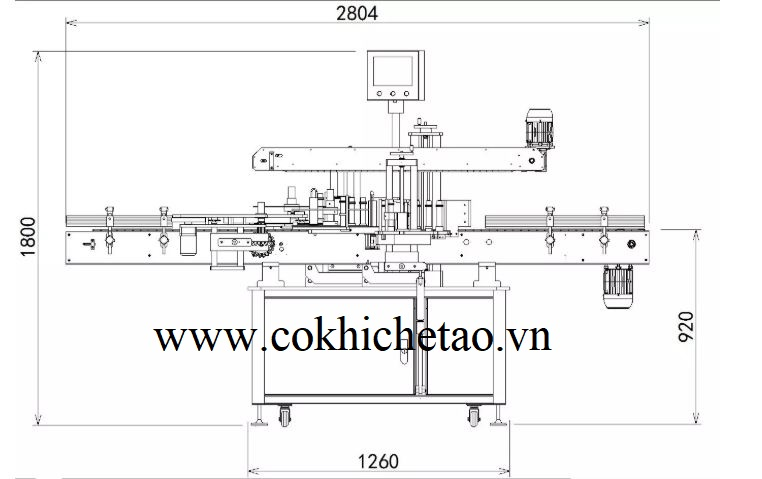 cấu tạo chi tiết máy dán nhãn chai tự động