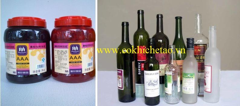 Máy dán nhãn chai bán tự động
