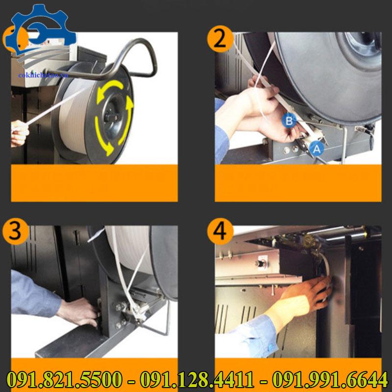 máy đóng dây đai thùng tự động