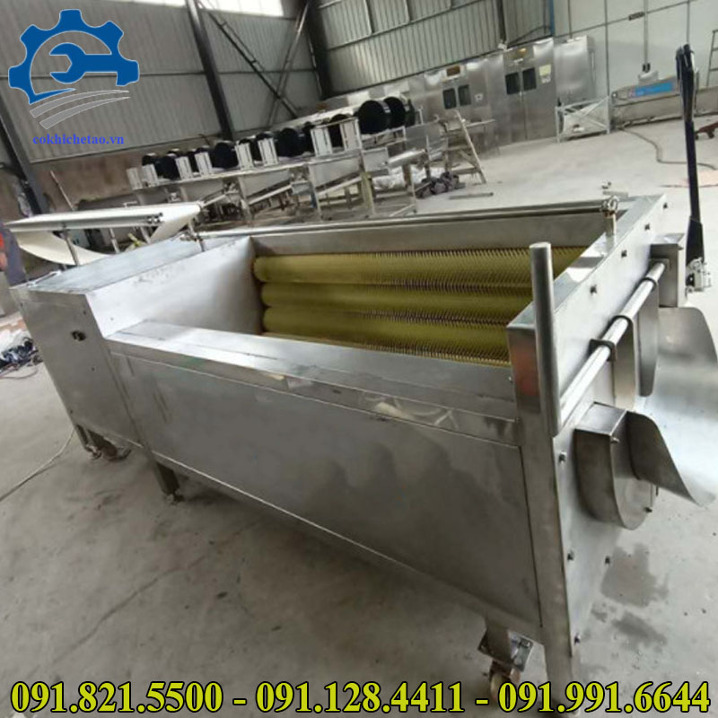 máy gọt vỏ khoai tây công nghiệp