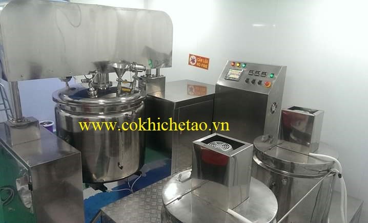 máy nấu mỹ phẩm 100l