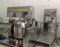 Dây chuyền sản xuất mỹ phẩm tự động - Máy nhũ hóa hút chân không 100 lit, 150 lit, 200 lit, 300 lit