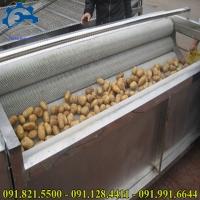 Máy gọt rửa vỏ khoai tây-Máy làm sạch vỏ khoai,máy bóc và rửa vỏ khoai