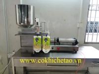 Máy chiết rót dịch lỏng đóng túi bán tự động khí nén - Máy chiết nước hoa, chiết nước trái cây, chiết thực phẩm