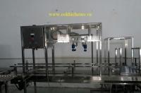 Dây chuyền chiết rót, đóng nắp bình nước 20L - Máy chiết nước suối, nước khoáng, nước uống