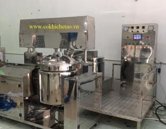 Máy nấu mỹ phẩm, nồi nấu có cánh khuấy – Máy nhũ hóa mỹ phẩm, máy đồng hóa