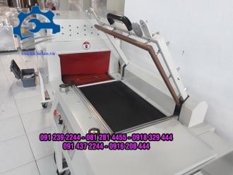 Máy cắt co màng  - Máy cắt bọc màng co bán tự động, máy màng co