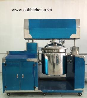 Máy nhũ hóa mỹ phẩm hút chân không - Máy đồng hóa kem, thực phẩm, máy sản xuất kem face kem body
